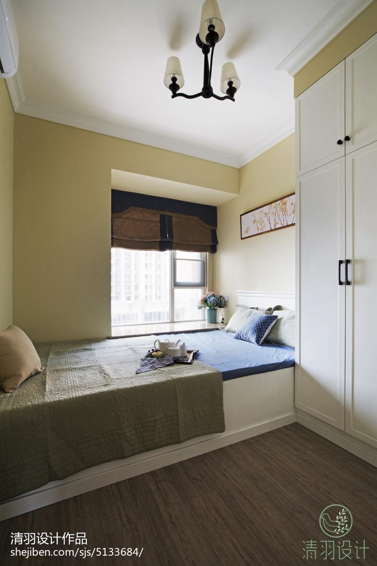 精美面积102平混搭三居卧室装修效果图片欣赏