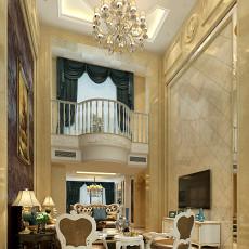 2018面积139平复式客厅欧式装修设计效果图片欣赏
