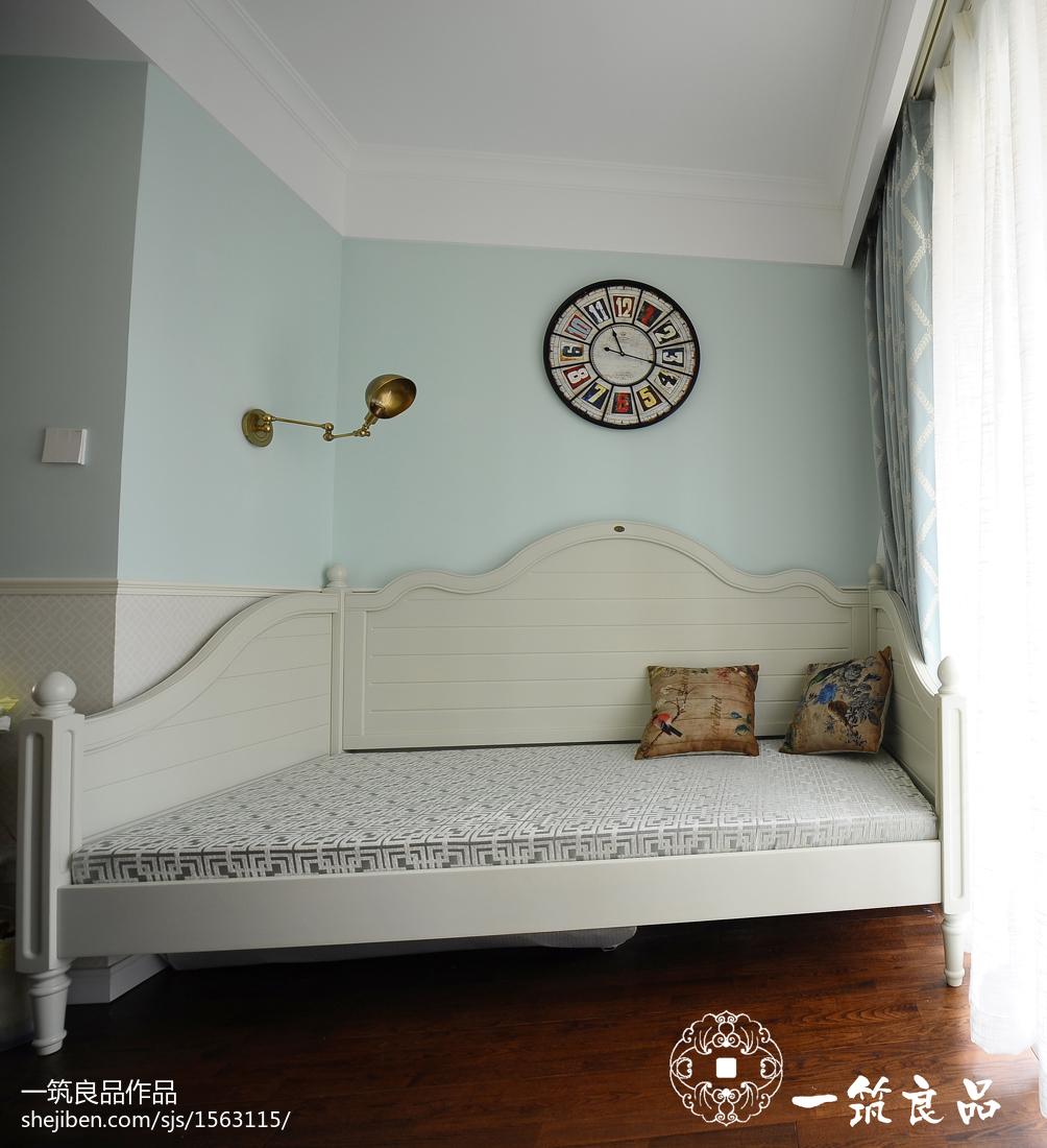 2018面积113平美式四居卧室装修效果图片大全