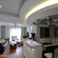 精选117平方四居客厅美式装修效果图片大全