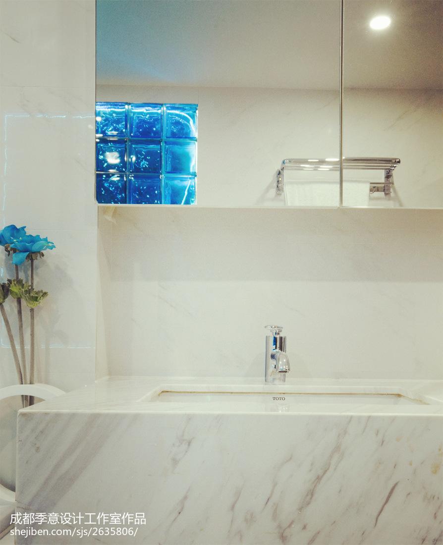 精选134平米现代复式卫生间装修实景图片