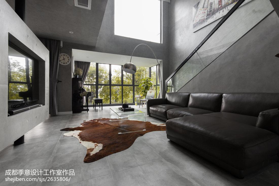 精选面积118平复式客厅现代装修实景图片