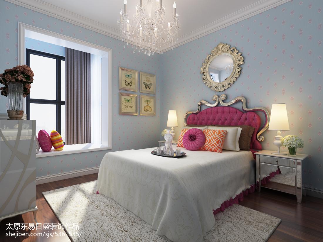 精选面积104平欧式三居卧室装修效果图