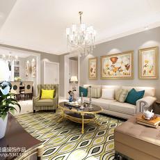 2018103平方三居客厅欧式装修欣赏图片大全