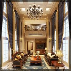 精美面积130平别墅客厅美式实景图片