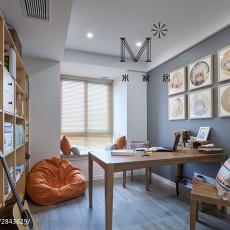 2018精选97平米三居书房中式装修设计效果图