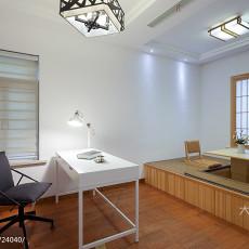 面积98平现代三居卧室实景图
