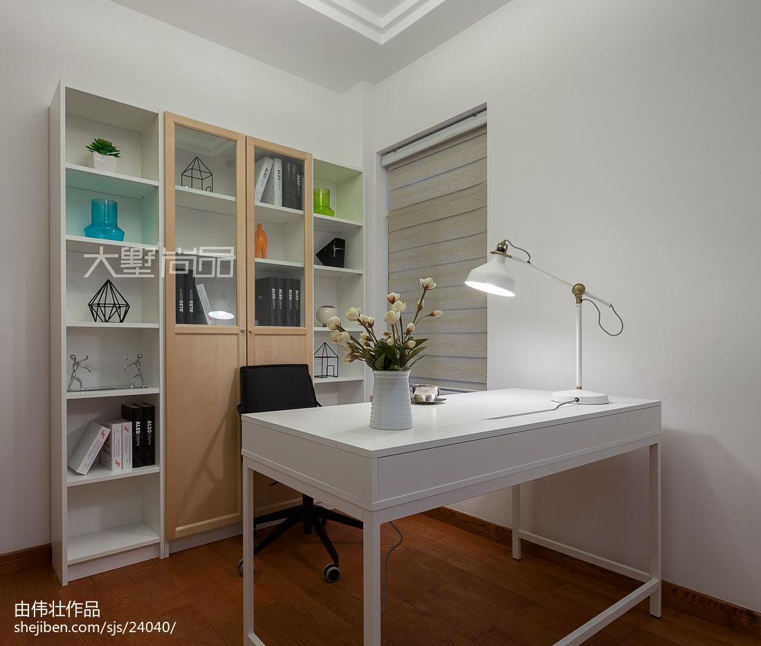 2018面积95平现代三居书房装修设计效果图片大全