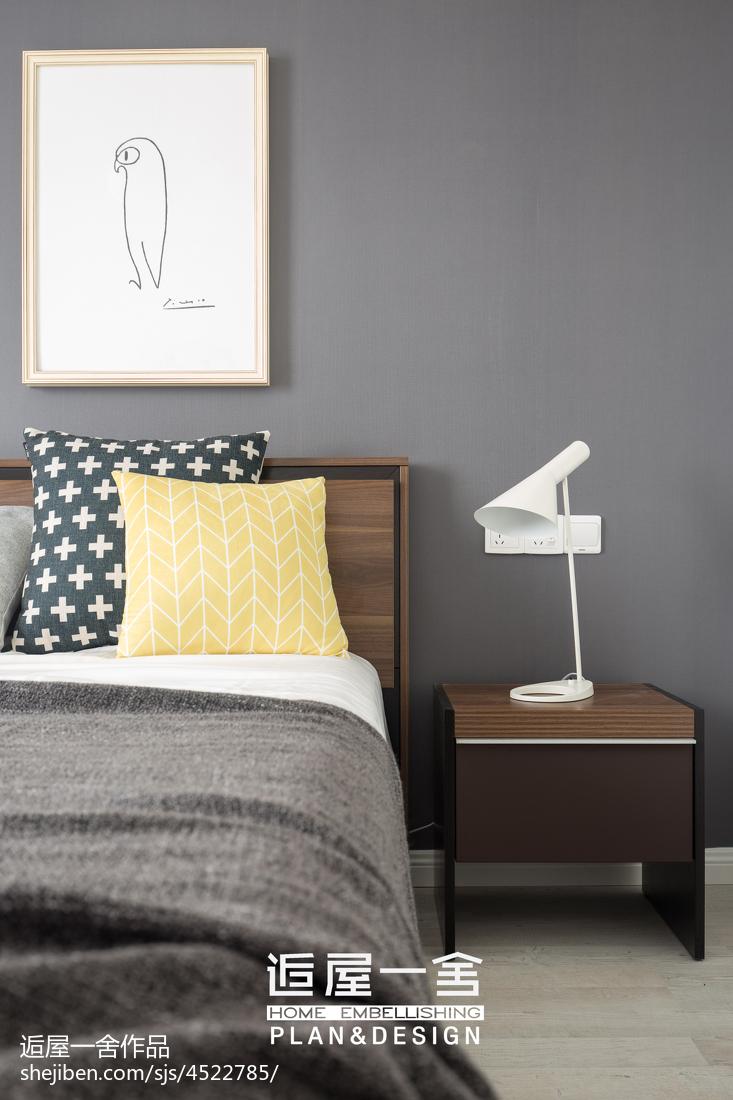 典雅128平欧式三居卧室装修装饰图