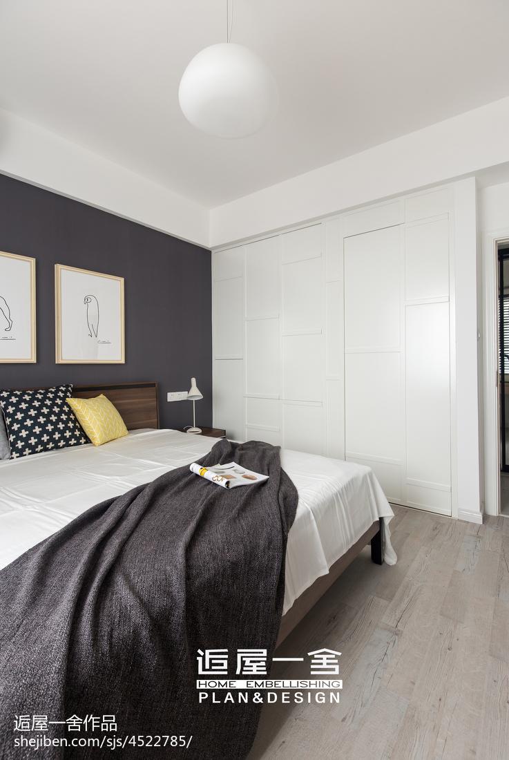温馨98平欧式三居卧室设计美图