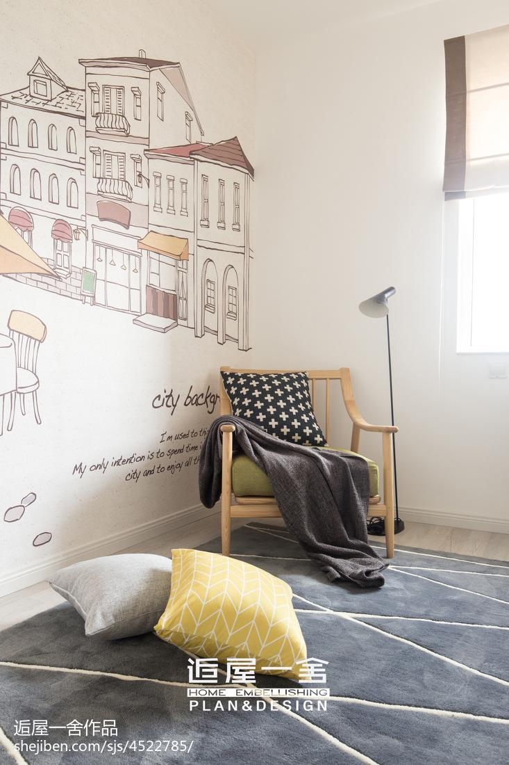 温馨113平欧式三居卧室装饰美图