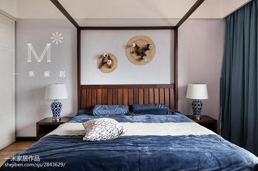 2018126平方四居卧室中式装修欣赏图片