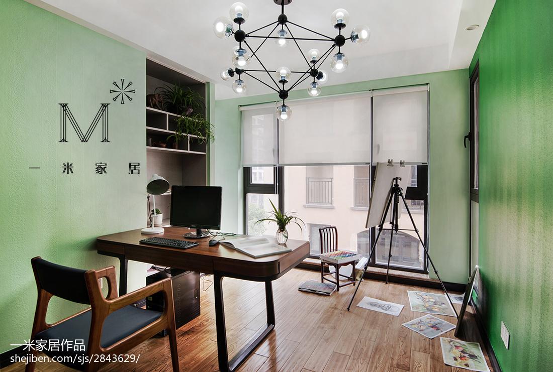 精美中式四居书房装修实景图片欣赏