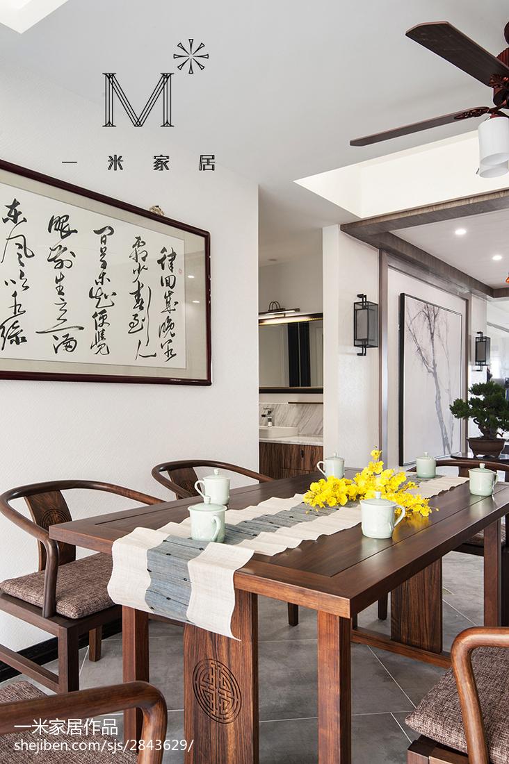 2018精选143平米四居餐厅中式装修图片大全