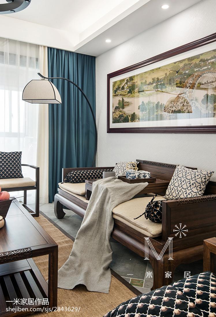 精美面积114平中式四居客厅实景图片欣赏