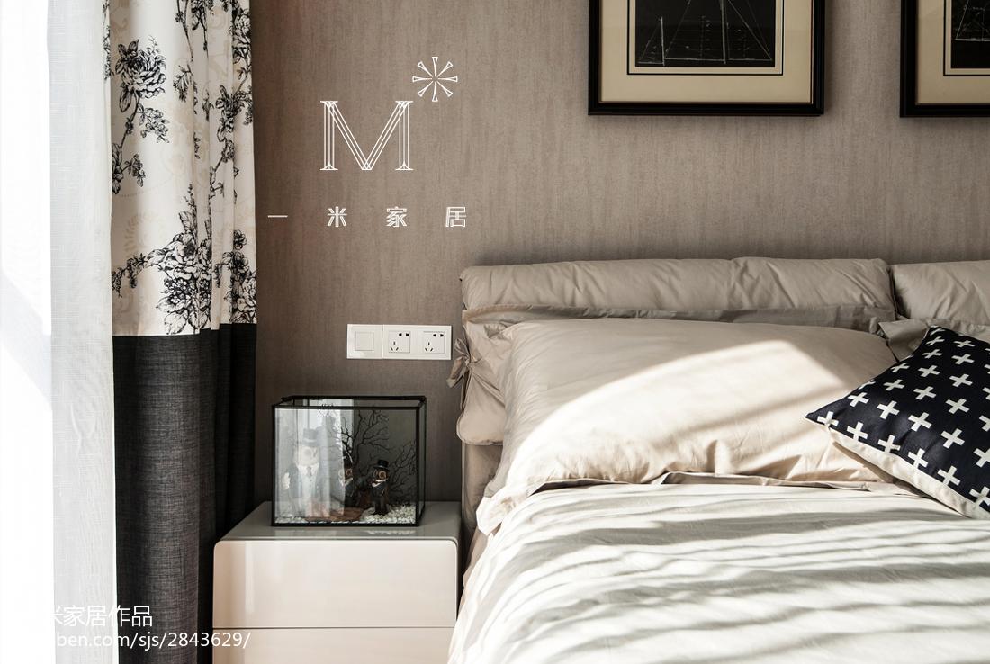 201896平方三居卧室现代装修设计效果图