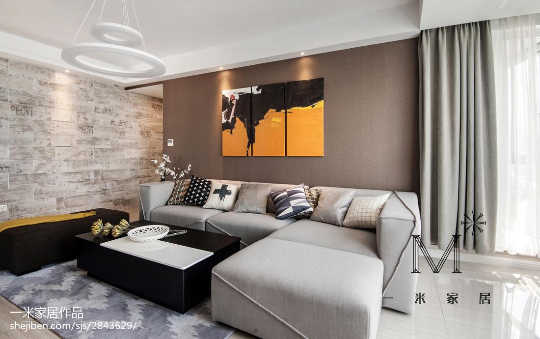 热门面积100平现代三居客厅装饰图片欣赏