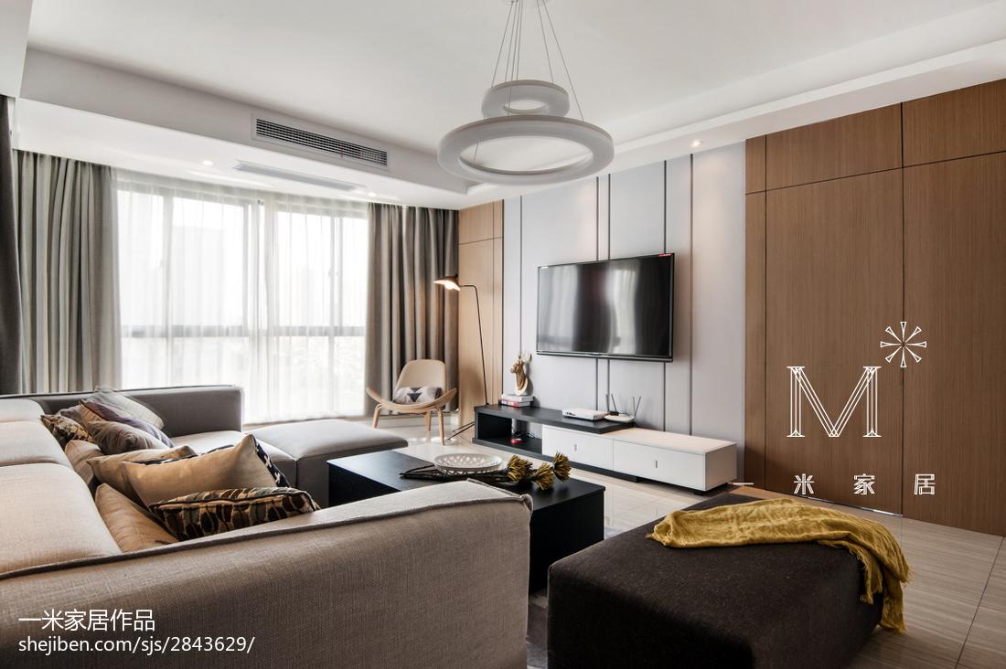 2018精选107平米三居客厅现代装修效果图片