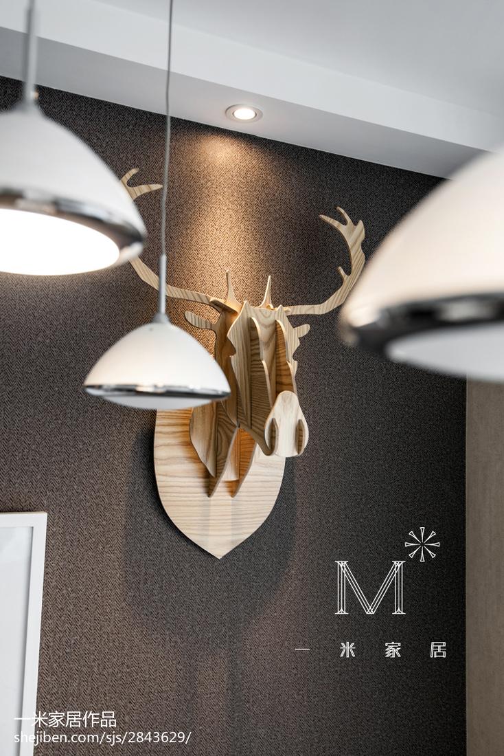 精美103平方三居餐厅现代装修效果图片大全