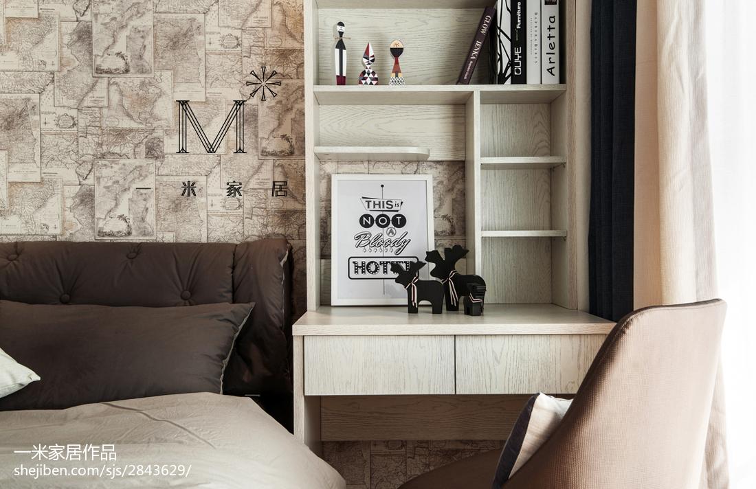 精美面积100平现代三居书房装修实景图片大全