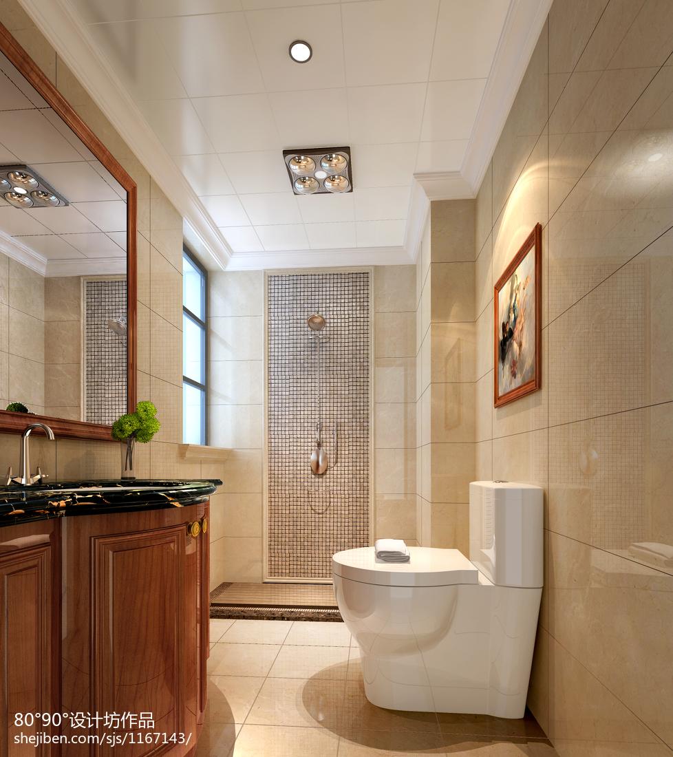 大面积卫生间装修效果图大全2012图片
