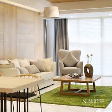 2018精选大小109平现代三居客厅效果图片