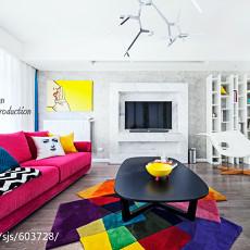 2018大小106平现代三居客厅装修设计效果图片大全
