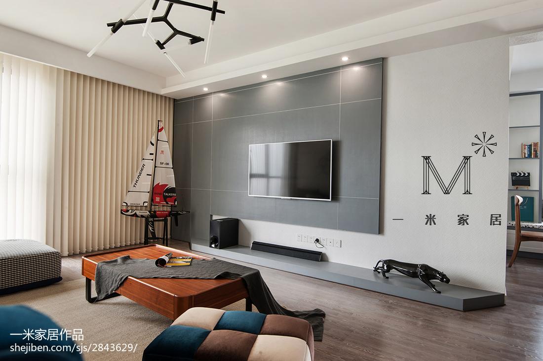 2018精选90平米三居客厅现代装修图片大全