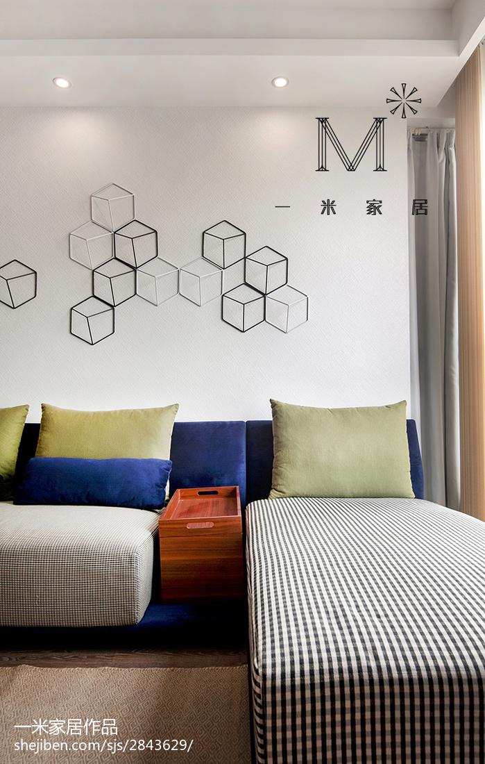 热门108平米三居客厅现代装修设计效果图片欣赏