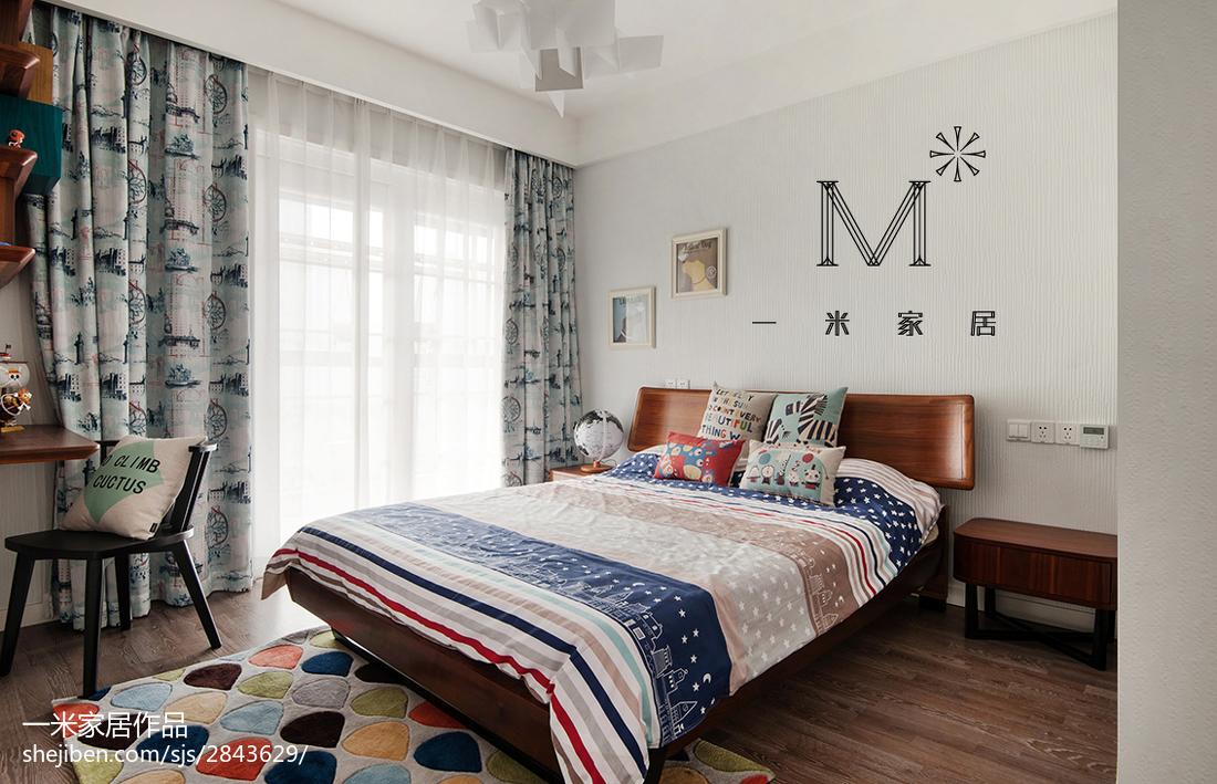 精美100平米三居儿童房现代装修效果图片