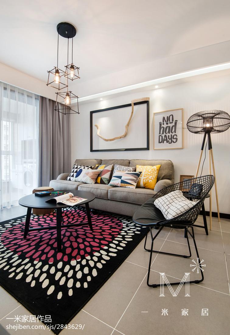 精选面积109平现代三居客厅效果图