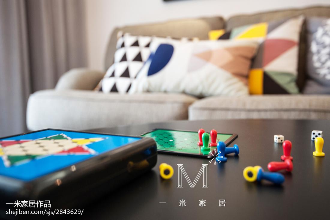 106平客厅三居现代实景图片
