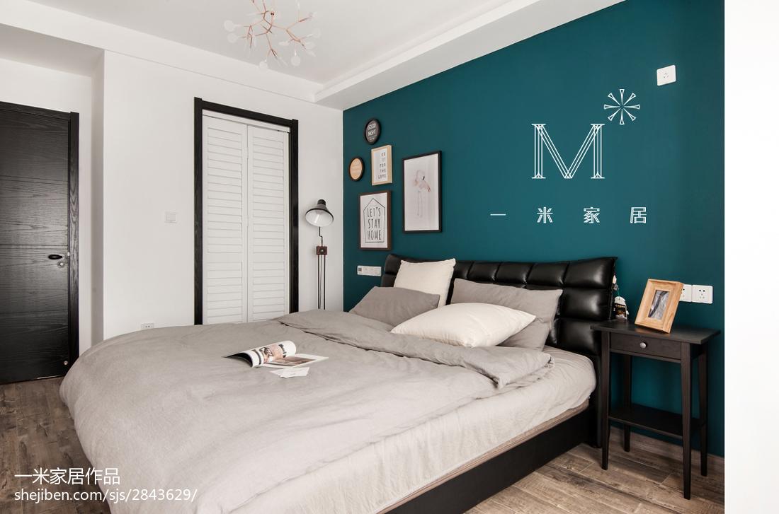 质朴83平现代三居卧室案例图