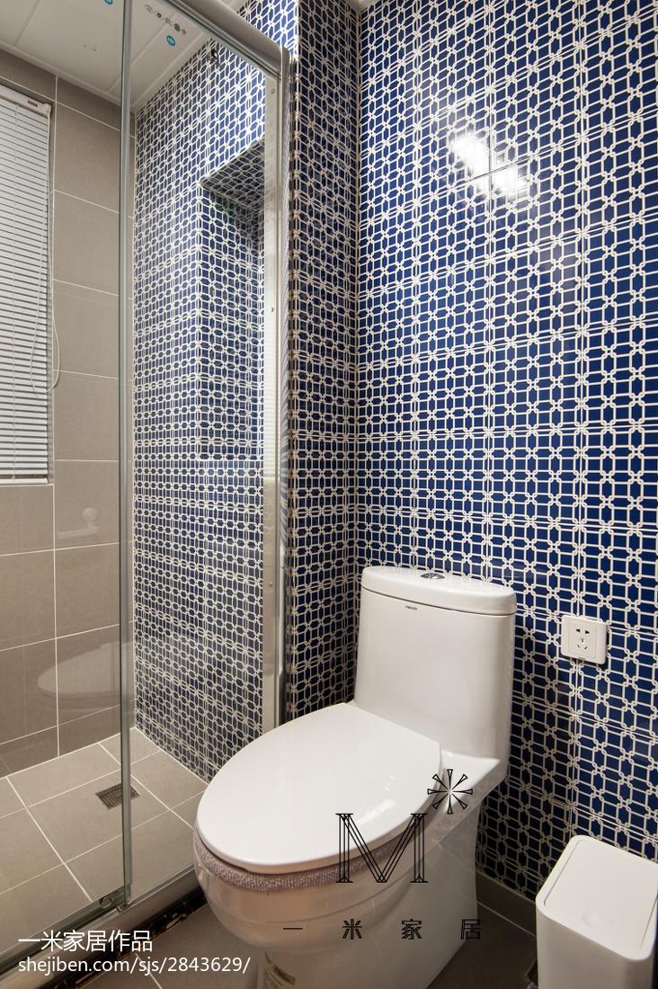 精美105平米三居卫生间现代装饰图片大全