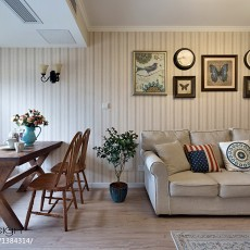 热门大小93平美式三居客厅装修设计效果图片大全