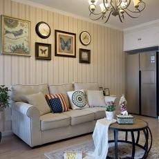 热门90平方三居客厅美式装修实景图