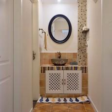 美式乡村卫浴洗手台装修设计