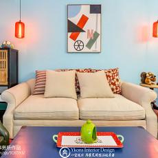 精选面积84平混搭二居客厅装修设计效果图片