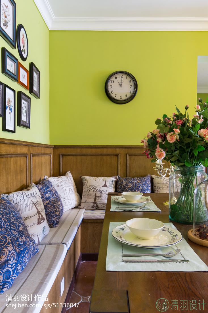 热门面积85平美式二居餐厅装修设计效果图片