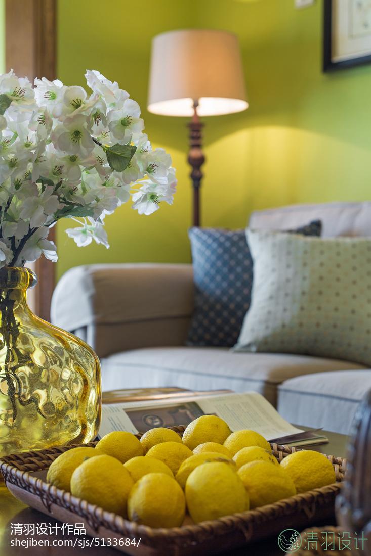 热门面积90平美式二居客厅设计效果图