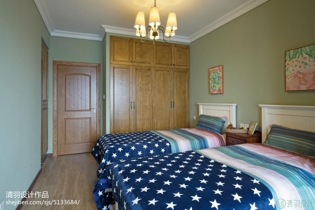 2018美式二居卧室设计效果图