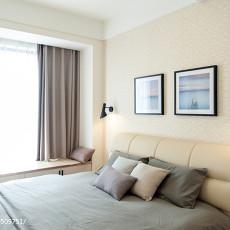 面积80平现代二居卧室实景图片欣赏