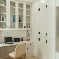 热门面积80平现代二居书房装修实景图