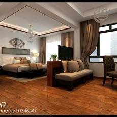 132平米四居卧室中式装修欣赏图