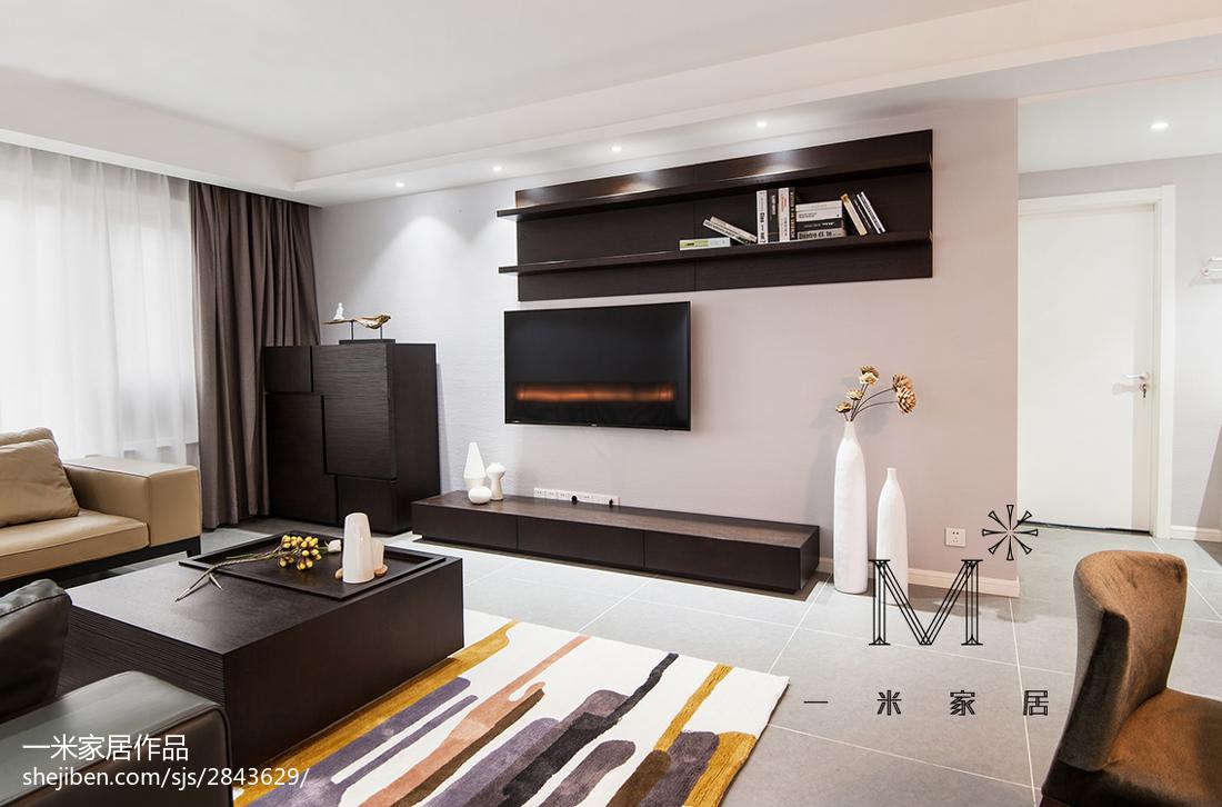 精选大小91平现代三居客厅装饰图片