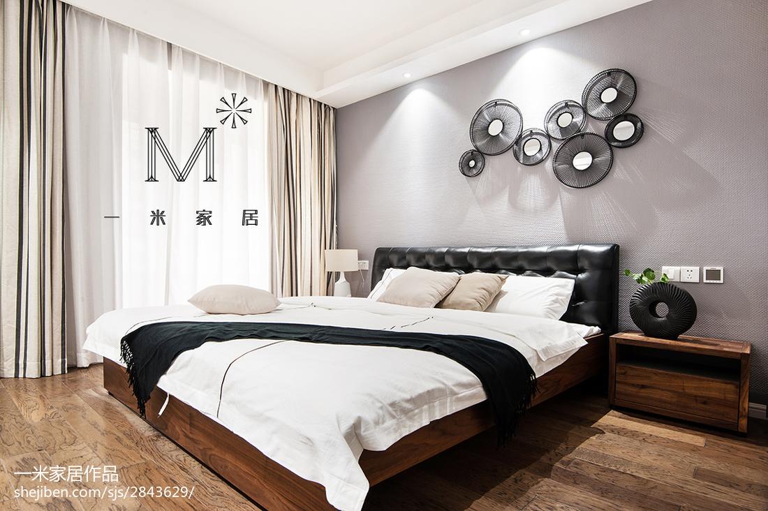 101平米三居卧室现代效果图片欣赏