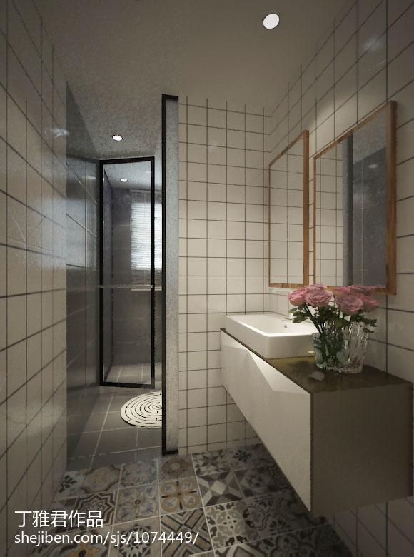 精选面积133平复式卫生间现代装修设计效果图片欣赏