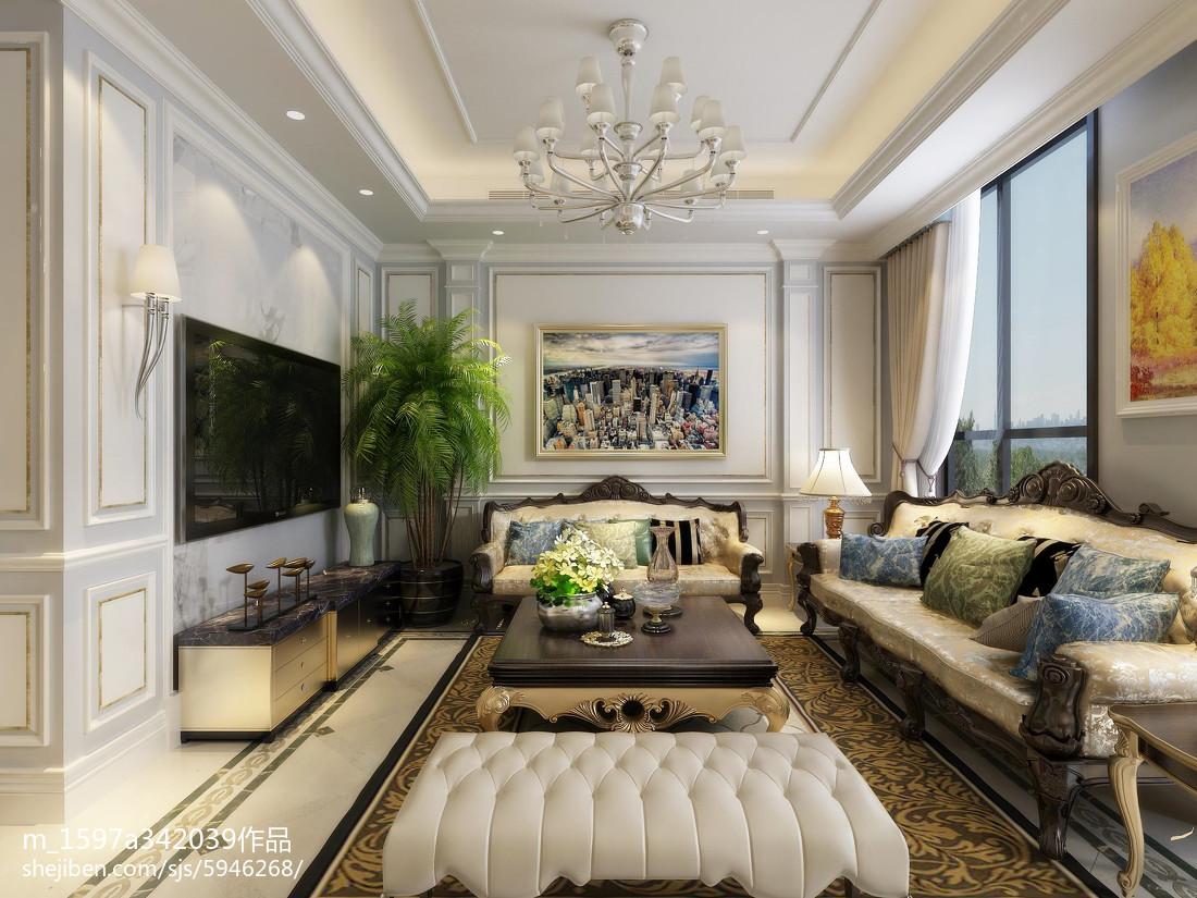 热门138平米欧式别墅客厅装修欣赏图
