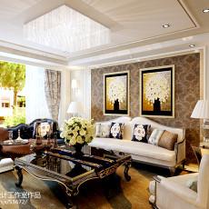 精美102平米三居客厅欧式装修设计效果图片大全