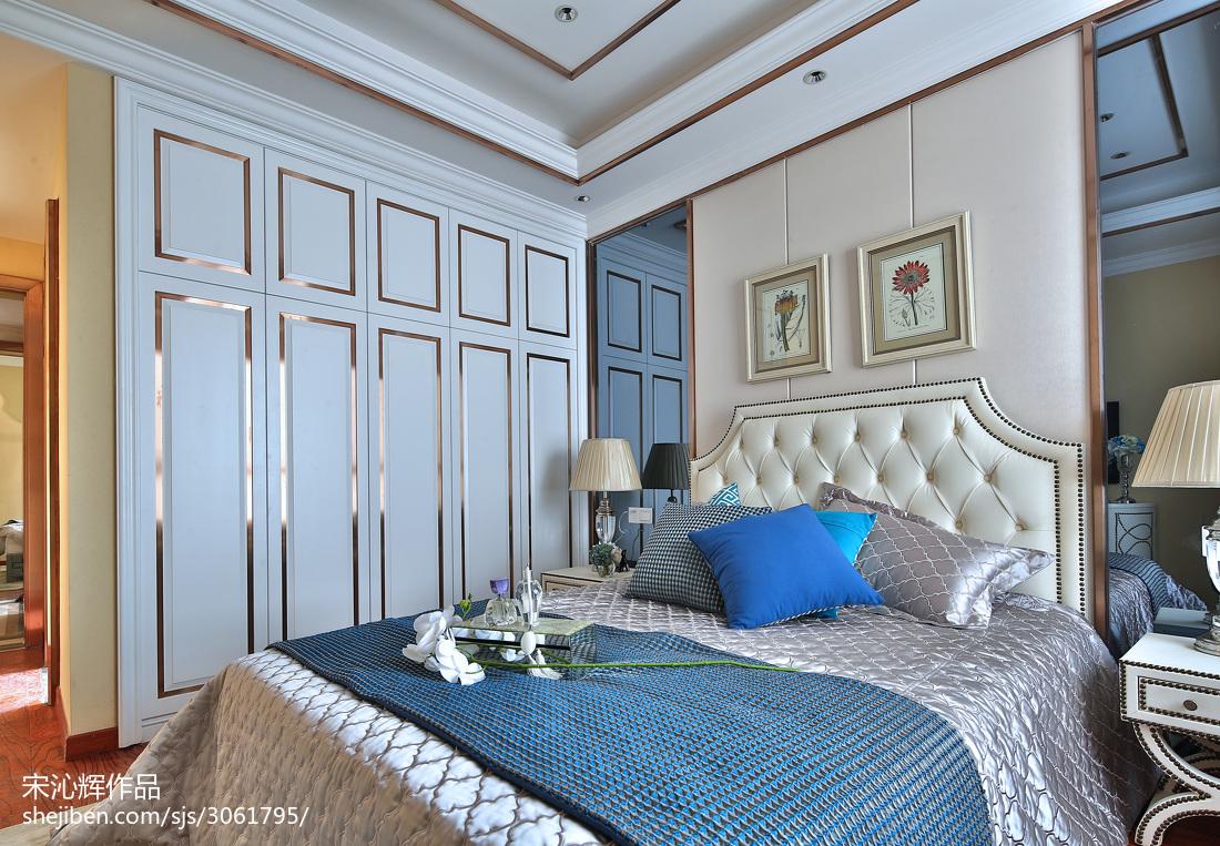 现代欧式样板房卧室衣柜效果图